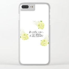 Hope for Spring in the Winter Clear iPhone Case