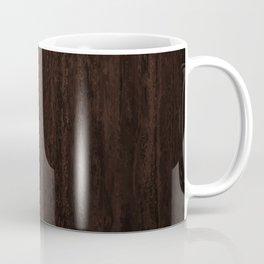 Very Dark Coffee Table Wood Texture Coffee Mug