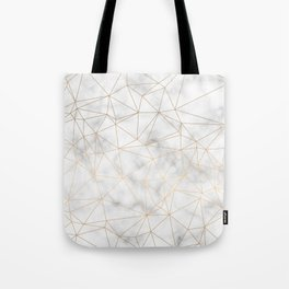 Marble Gold Geometric Texture Tote Bag