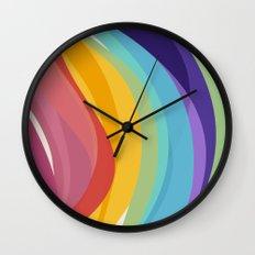 Fig. 045 Colorful Swirls Wall Clock