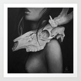 Skin & Bones Art Print