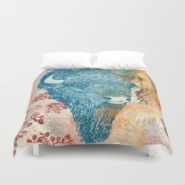 Blue Bison Duvet Cover