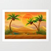 oasis Art Prints featuring Oasis by Tatyana Adzhaliyska