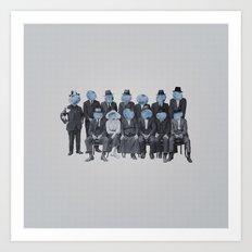 Blueberry Mugshot Art Print