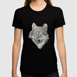 Wolf Head Illustration T-shirt