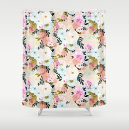 Florence Painterly Floral Shower Curtain