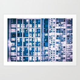 Urban Sprawl Vancouver Grid Art Print