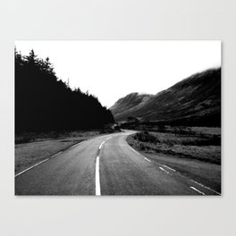 Road through the Glen - B/W Canvas Print