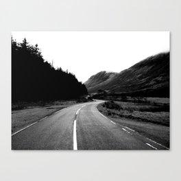 Road through the Glen - B/W Canvas Print