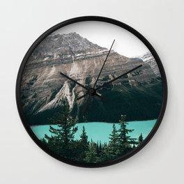 Peyto Lake II Wall Clock