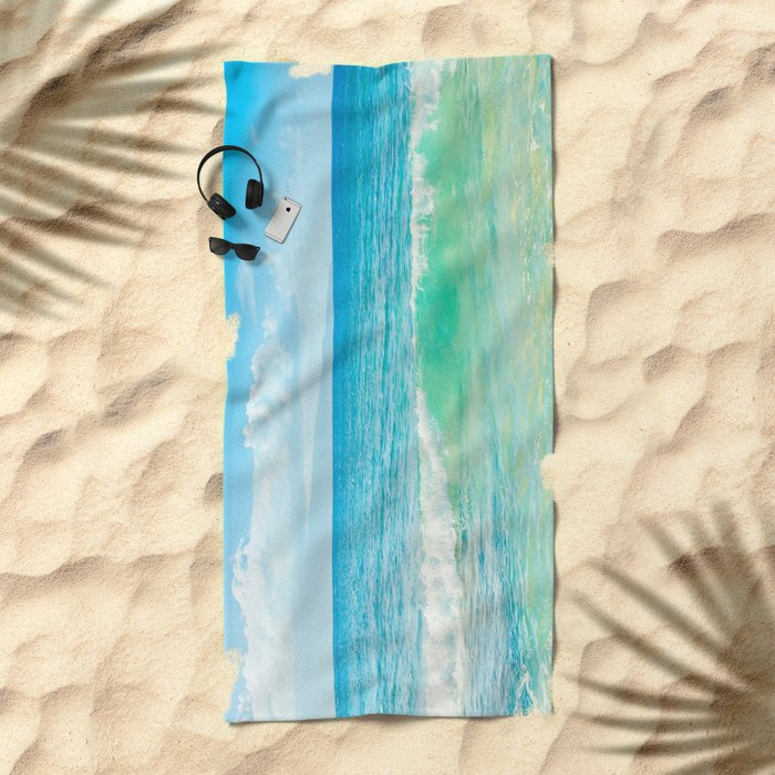 Ocean Blue Beach Dreams Beach Towel