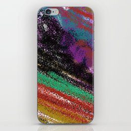 Design stylish  rainbow colors vint. iPhone Skin