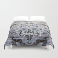 snowflake Duvet Covers featuring Snowflake by Kristin Edoy Design
