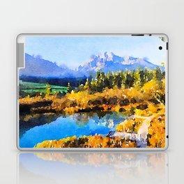 Mountain Watercolor Laptop & iPad Skin
