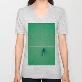 Tennis court green Unisex V-Neck