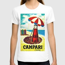 Vintage 1957 Cordial Campari Advertisement Poster T-shirt
