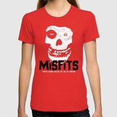 Misfits always say die... MEDIUM Red Womens Fitted Tee