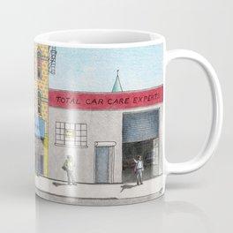 Atlantic Avenue, Brooklyn Colored Pencil Drawing Coffee Mug