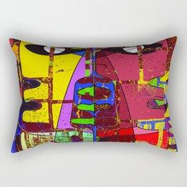 modern geometric eyes abstract art Rectangular Pillow