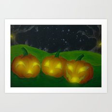 Lantern Trio Art Print