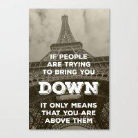 eiffel tower Canvas Prints featuring Eiffel tower by Solar Designs