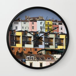 Coloured Houses Wall Clock