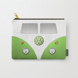 Green VW Volkswagen Mini Van Bus Carry-All Pouch