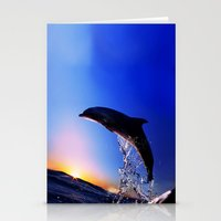 dolphin Stationery Cards featuring DOLPHIN by Ylenia Pizzetti