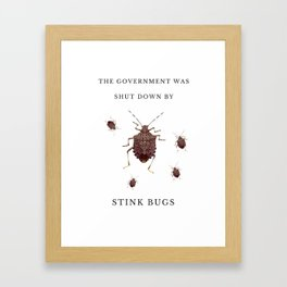 Government Stink Bugs Framed Art Print