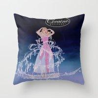 cocaine Throw Pillows featuring Cinderella Cocaine Attitude by Trash Apparel