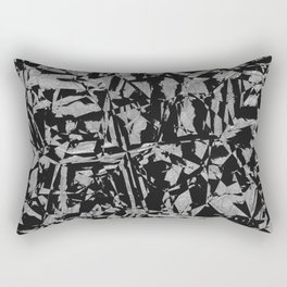 Black - Silver - Crazy Rectangular Pillow