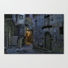 Blue and gray night Canvas Print