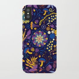 Ripe autumn – purple and yellow iPhone Case