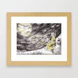 Feeding the Moon Framed Art Print