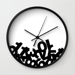 Dead Ants - Black on White Wall Clock