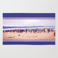 camp Area & Throw Rugs featuring Surfing Camp by Heidi Fairwood