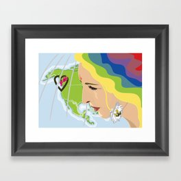 your mama loves you, no matter where you are Framed Art Print