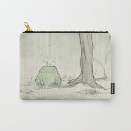 The frog under the rain Carry-All Pouch