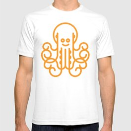 Happy Octopus in Orange T-shirt