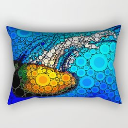 Ocean jellyfish photo bubble art | Go with the flow Rectangular Pillow
