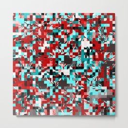 Pixelated 3 Metal Print