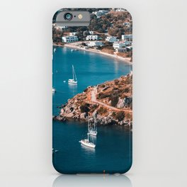 Sailing boats in the island of Leros iPhone Case