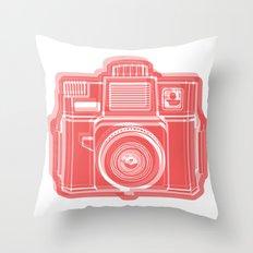 I Still Shoot Film Holga Logo - Red Throw Pillow