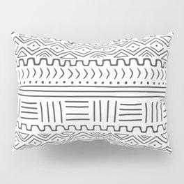 Mud Cloth on White Pillow Sham