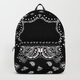 Bandana Black & White Backpack