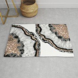 Yin Yang Agate Glitter Glam #7 #gem #decor #art #society6 Rug