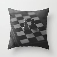 chess Throw Pillows featuring Chess by fofiane
