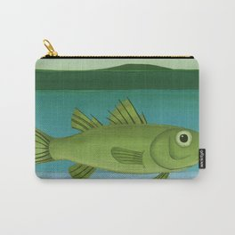 whimsical animal art- birds and fish Carry-All Pouch