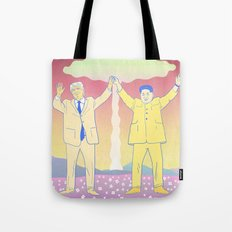 Put up your nukes Tote Bag