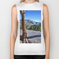 yosemite Biker Tanks featuring Yosemite park by Claude Gariepy